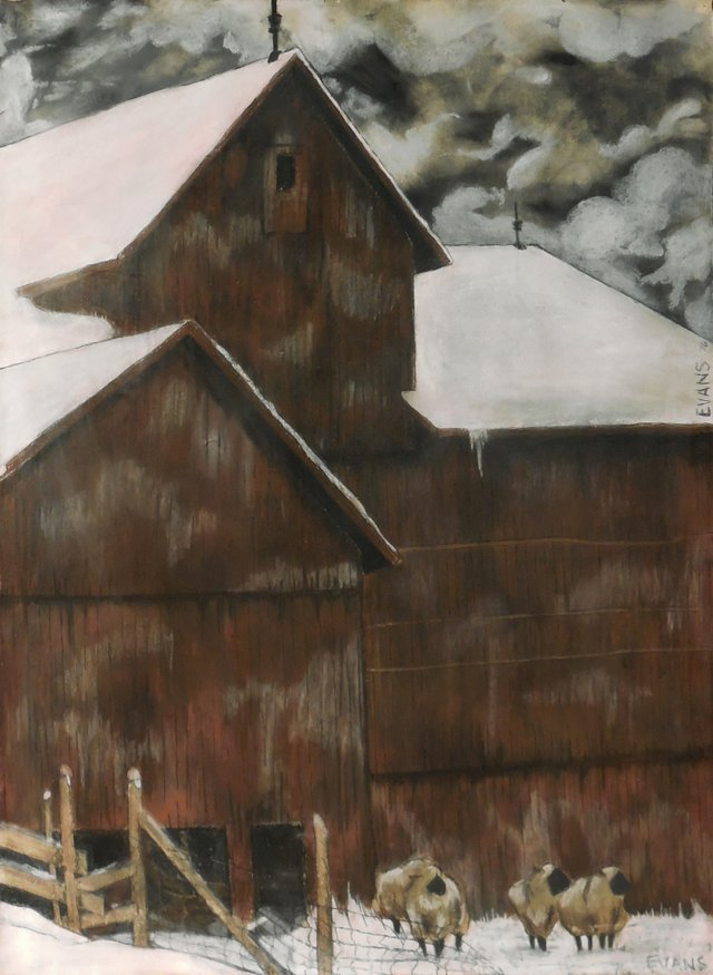 Winter Barnyard, 1976