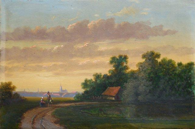 1d/ English Romantic Landscape, 1860