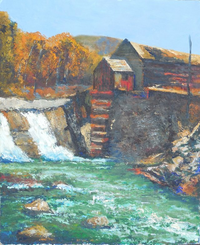 Old Mill on a River, 1960