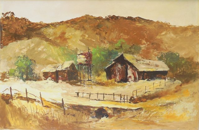 Old Barn by Tena Goins, 1960s