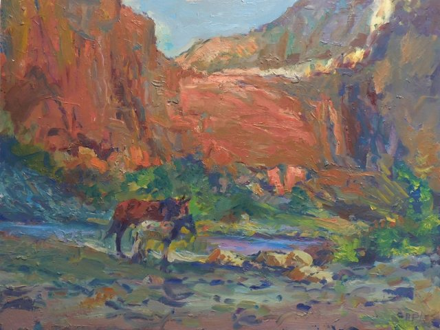 Horses in the Canyon
