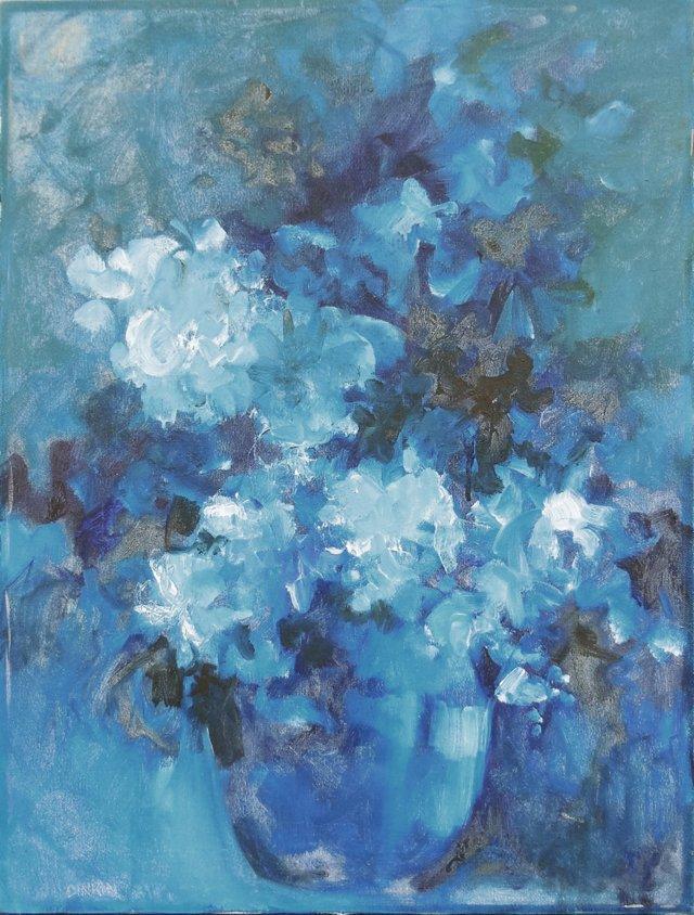 Blue Hydrangeas, 1975