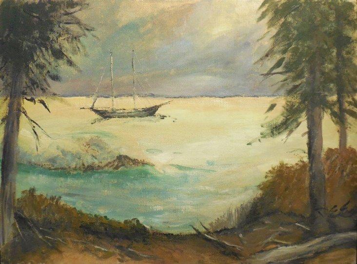 Lagoon at Sunset, 1965