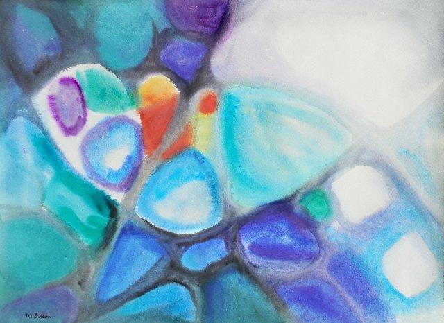 Blue Mosaic Abstract, 1975