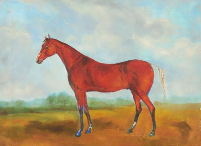 Chestnut Mare in a Landscape, 1960s
