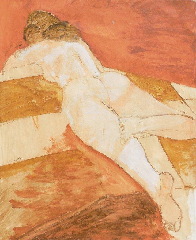 @RL/ Reclining Nude, 1970s