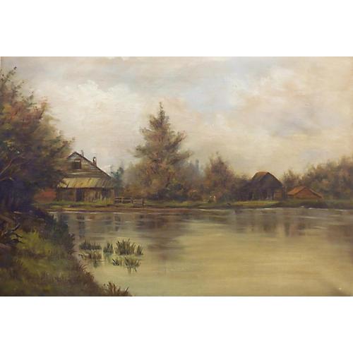 American Lake Landscape, C. 1900