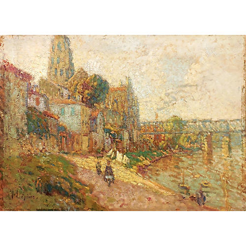 Early Impressionist River Landscape