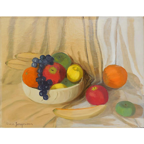 Sedwick Studio Purple Bowl Of Plums Fruit Bowl Still: One Kings Lane