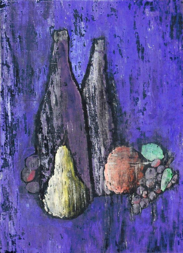 @RL/ Still Life of Bottles & Fruit, 1960