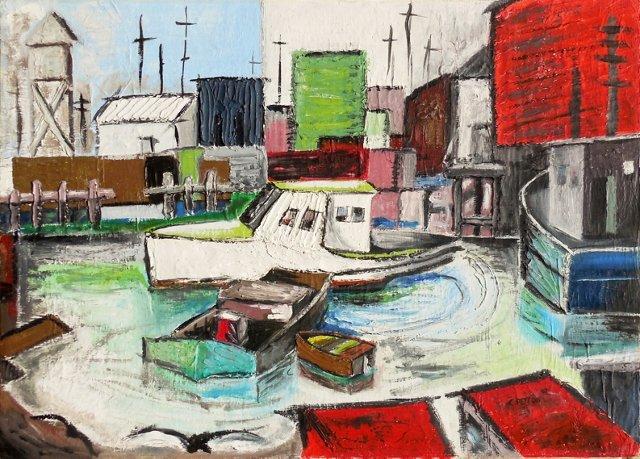 Industrial Harbor Scene, 1967