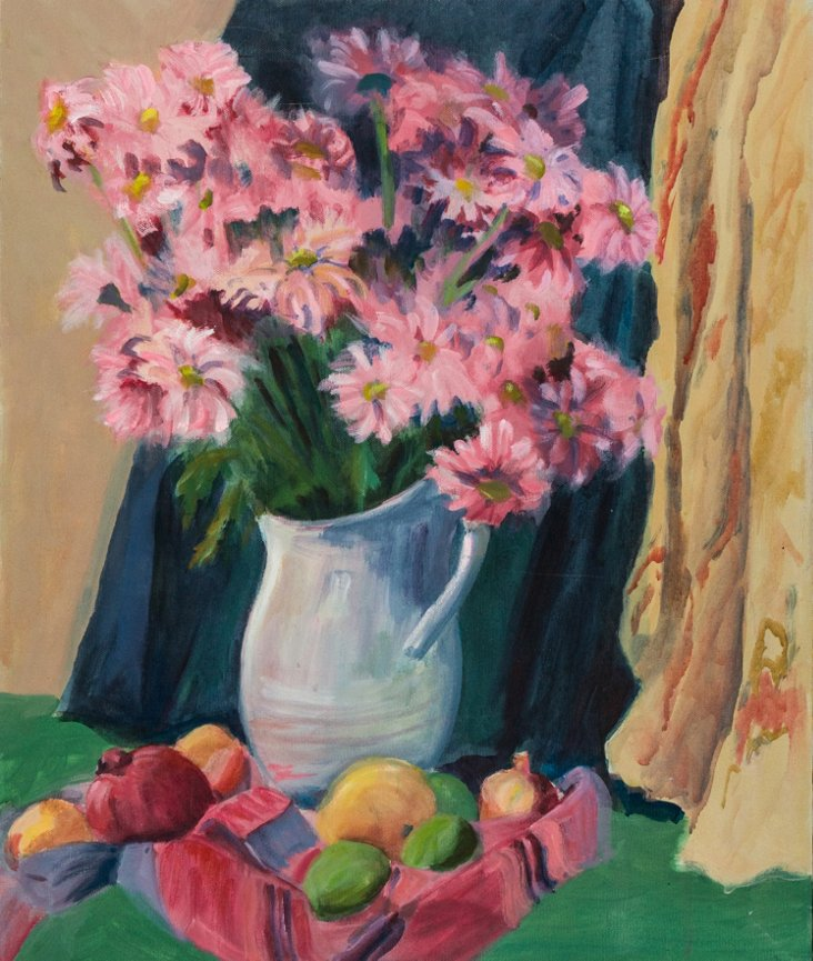 Still Life of Pink Daisies, 1970's