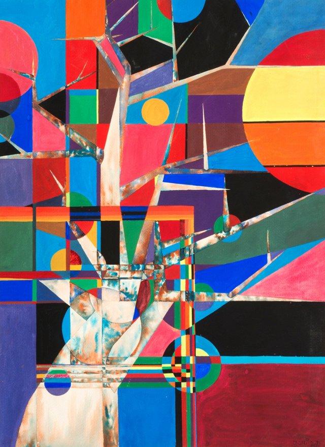 Colorful Modernist Sunset, 1981