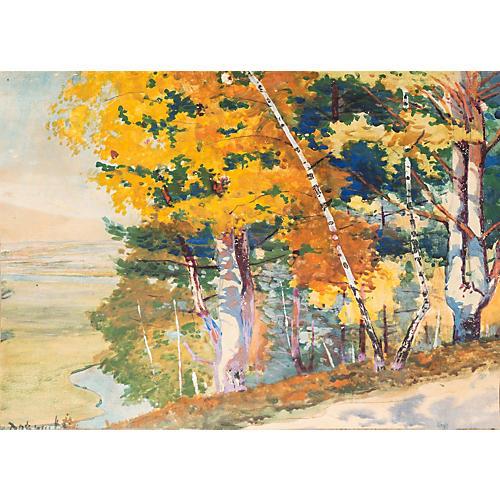 Golden Birches in Autumn, 1955
