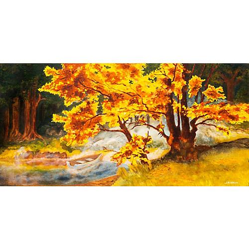 Autumn Landscape, Liquid Gold, 1975