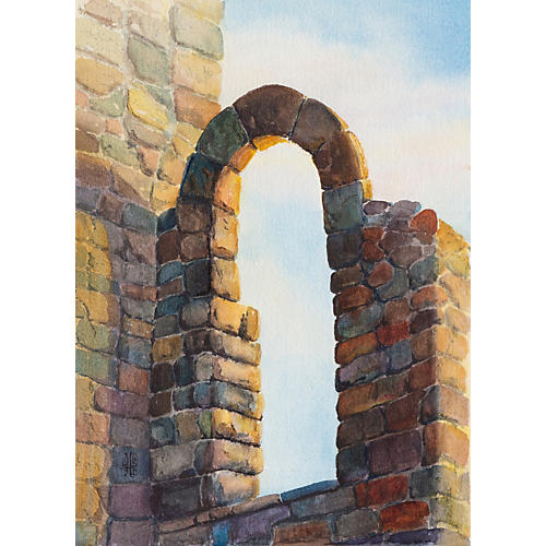 Old Stone Arch by Anne LeBlond Harding