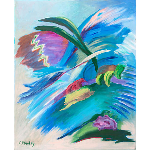 Floral Abstract by Lucia Manley, 1975