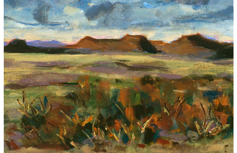 Mcnaught Fine Art 1960s High Desert Plateau One Kings Lane