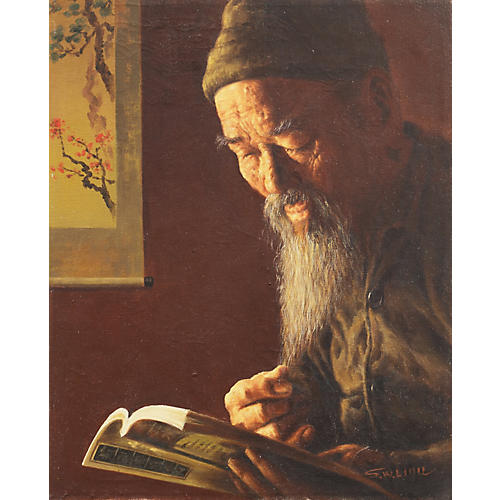 Portrait of a Scholar by S.W. Liou