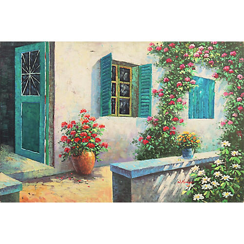 Shaded Courtyard in Provence