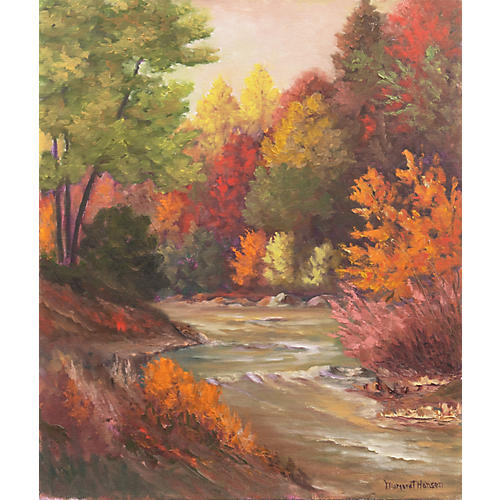 Autumn River Sunset by Margaret Hansen