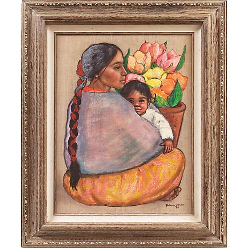 Mother & Child by Jo Ann Worden, 1984