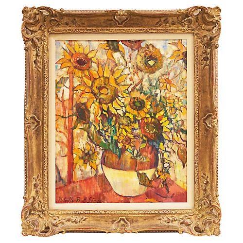 Sunflowers by Melville Paul Simon, 1960s