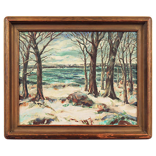 Winter Scene by Clarence McCarthy, 1947
