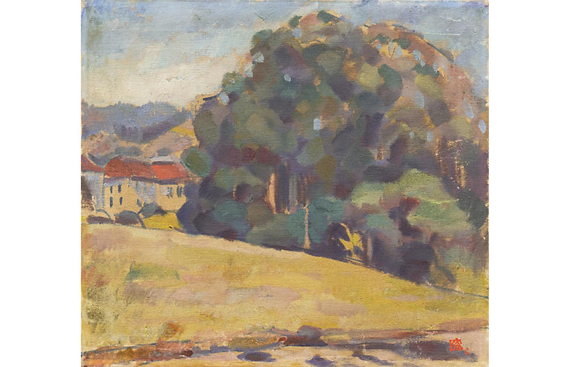Plein-Air Style Landscape, 1930's