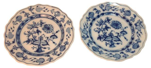 Meissen  Porcelain Plates, Pair