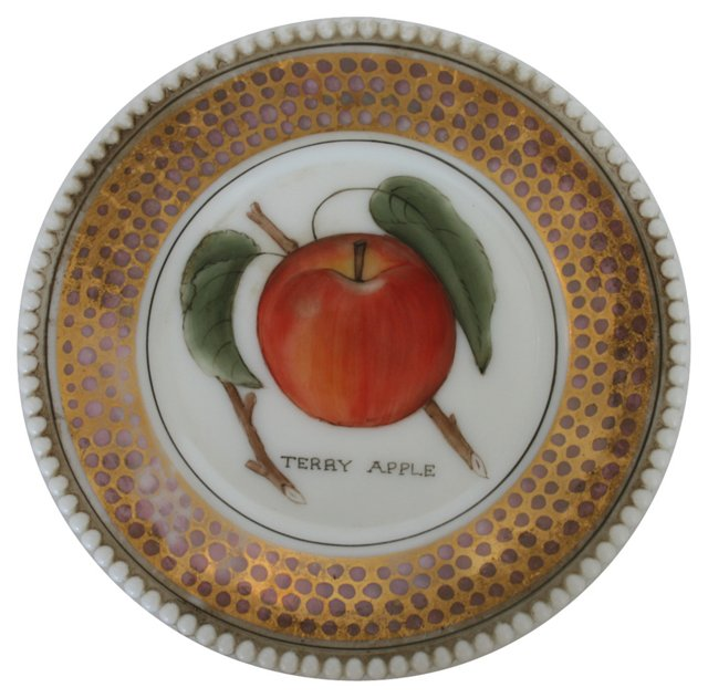Westmoreland Terry Apple Glass Plate
