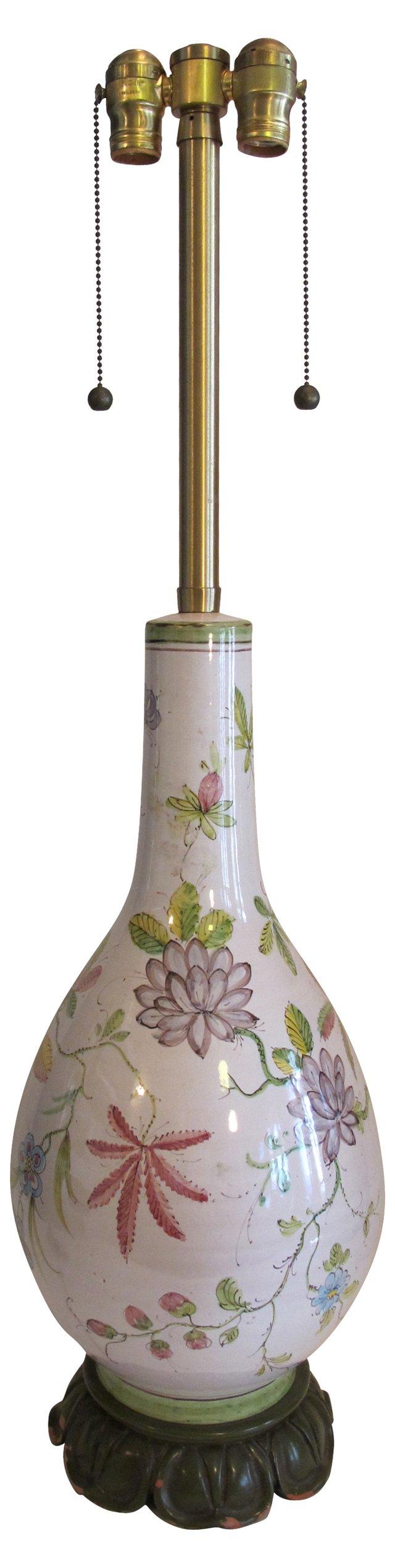 Hand-Painted Marbro Lamp