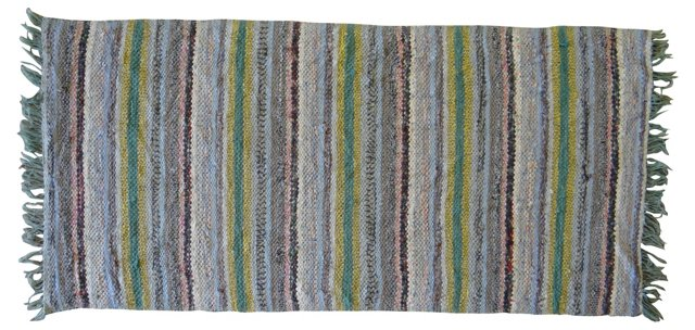 "Swedish Cotton Rag Rug, 5'5"" x 2'5"""