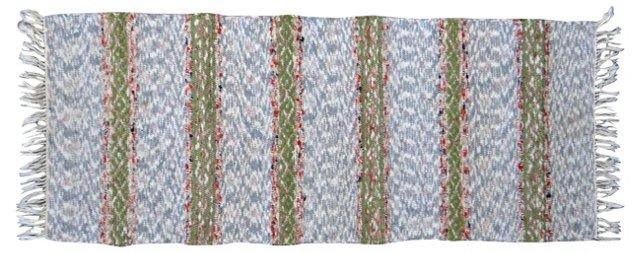 "Swedish Cotton Rag Rug, 5'1"" x 2'"