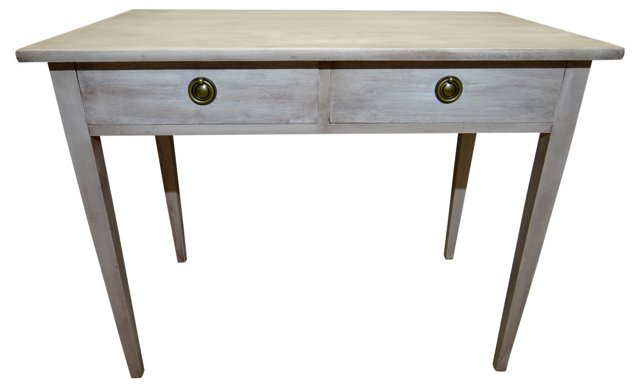 Gray Swedish 2-Drawer   Desk