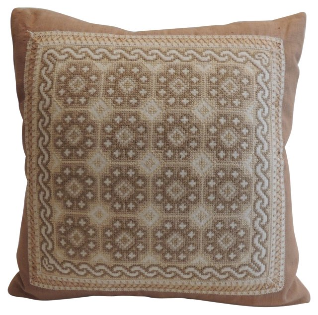 Spanish Embroidered Pillow