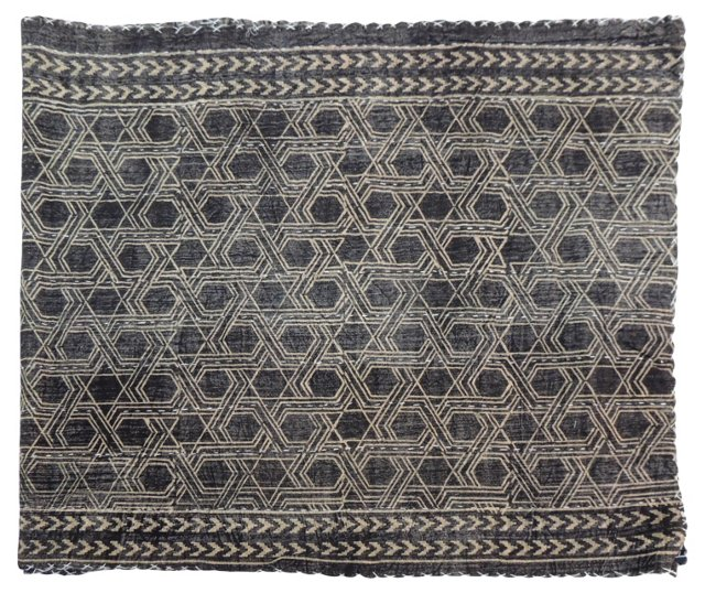 Indian Sepia Quilted Textile