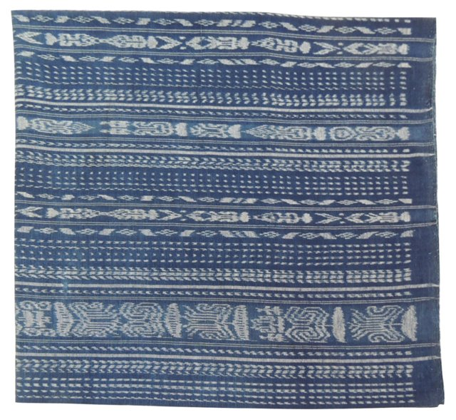African Blue & White Textile