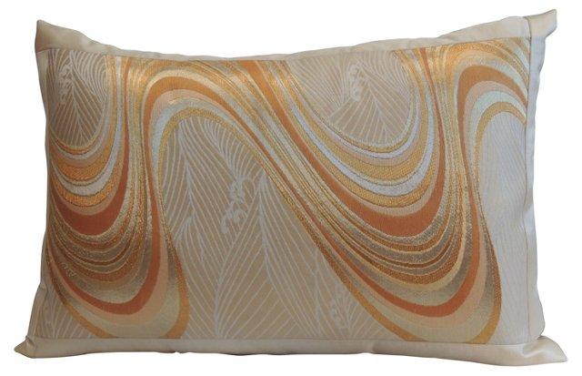 Japanese Obi Silk Bolster Pillow