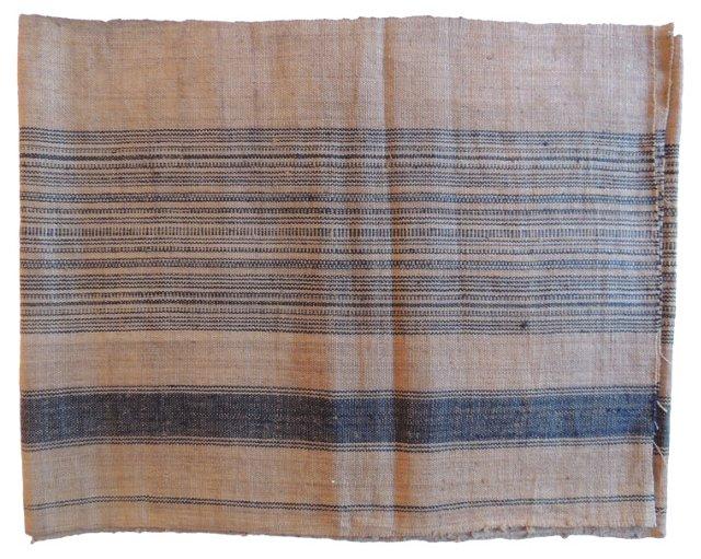 Rust & Black Handspun Linen