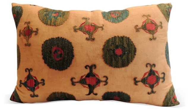 Turkish Suzani Bolster Pillow