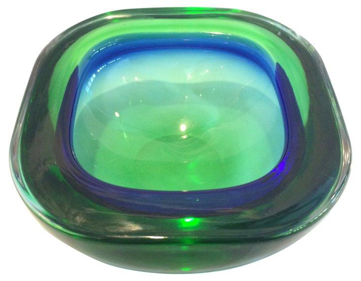 Blue Green Murano Bowl/Ashtray
