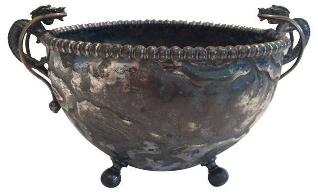 Silverplate Dragon Bowl