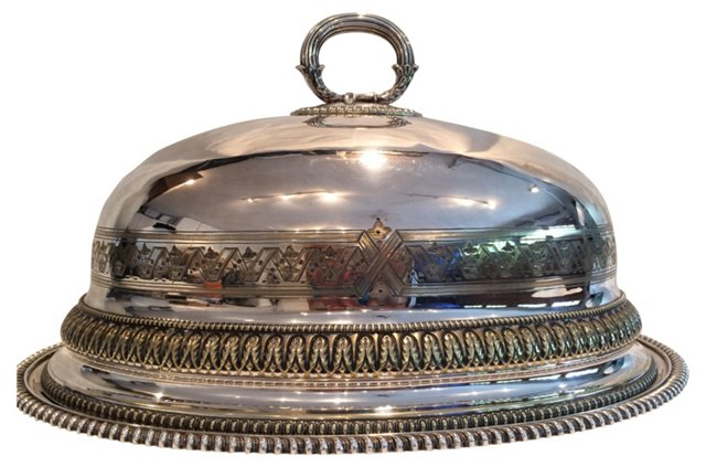 Antique Meat Dome w/ Tray