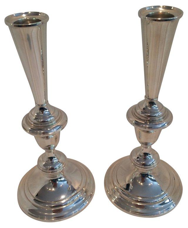 Sterling Gorham Candlesticks, Pair