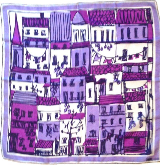 Vera Cityscape  Silk Scarf