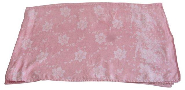 Pink Daffodil Damask Tablecloth