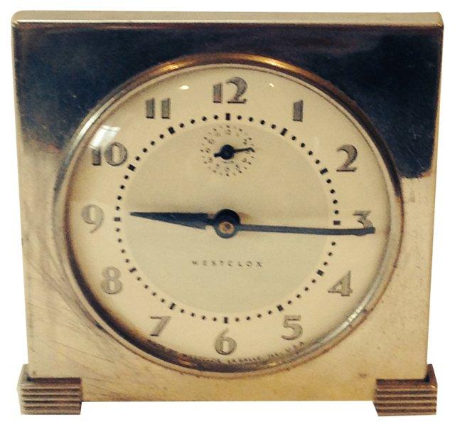 1930s Westclox  Chrome Deco Clock