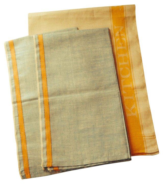 Linen Tea Towels, S/3