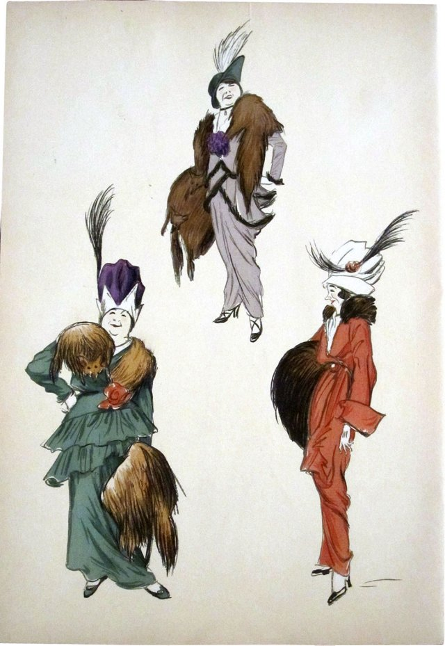 Fashion in Furs and Feathers